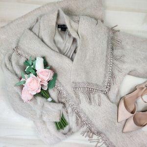 Vintage Venesha Angora wool maxi duster sweater